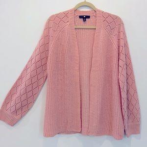 Derek Heart knit open cardigan